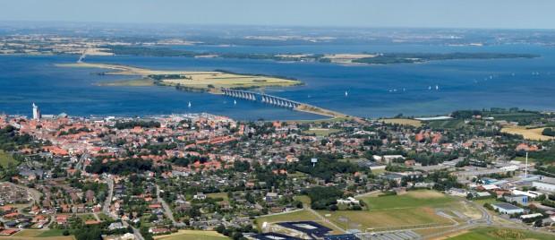 Luftfoto af Rudkøbing