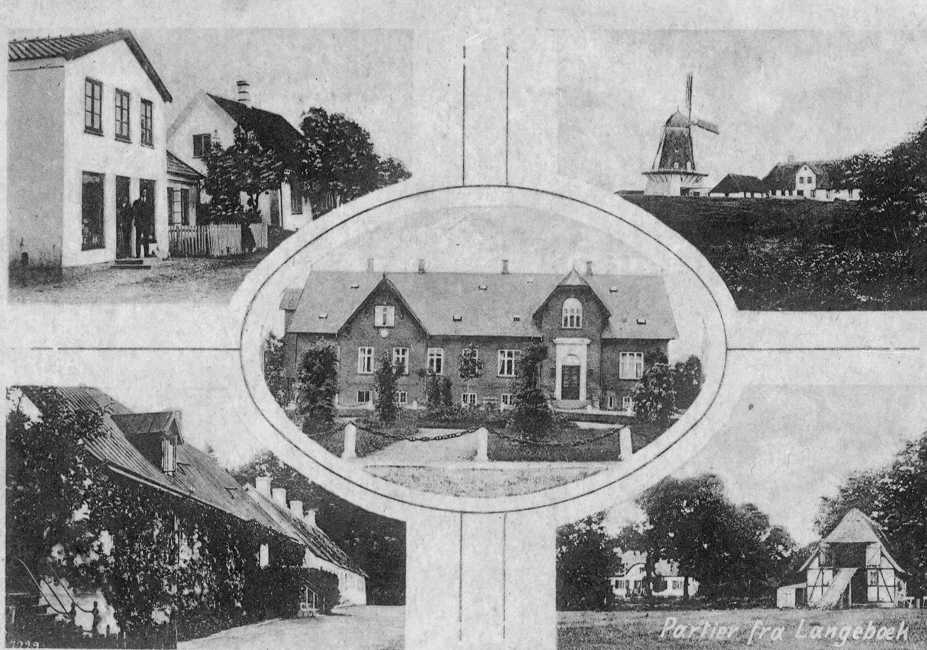 Eksempel på postskort, Langebæk 1923